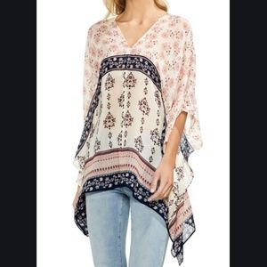 Vince Camuto Wildflower Poncho Blouse